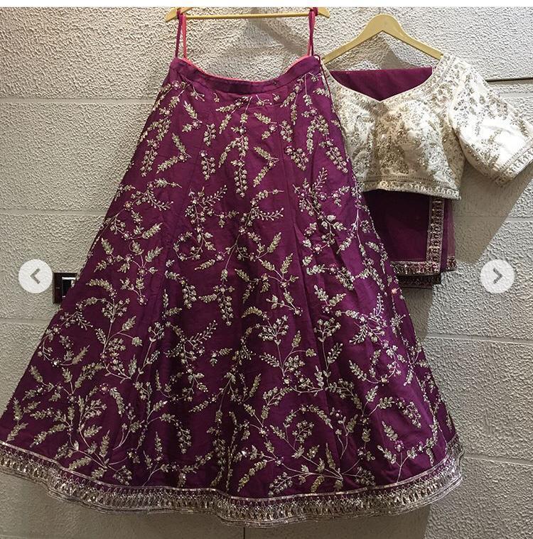 Purple Colour Designer Silk Lehenga Choli
