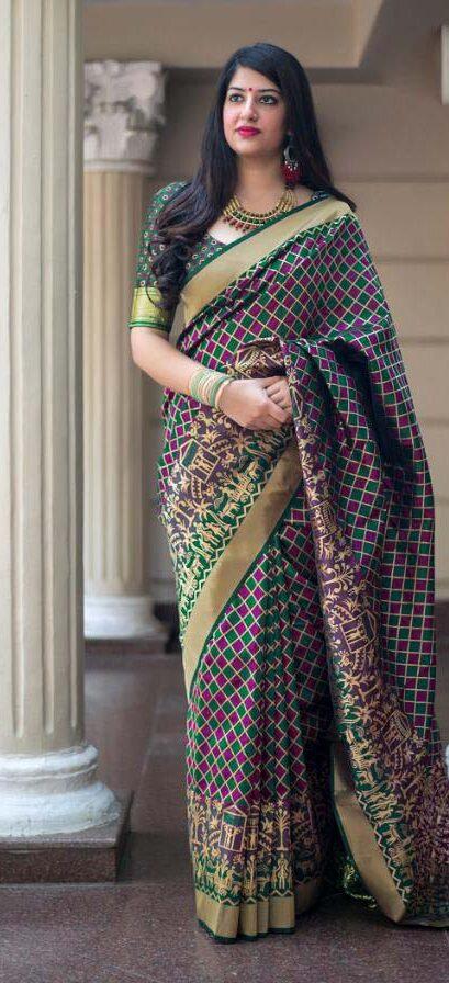 Latest Digital Print Silk Saree Price