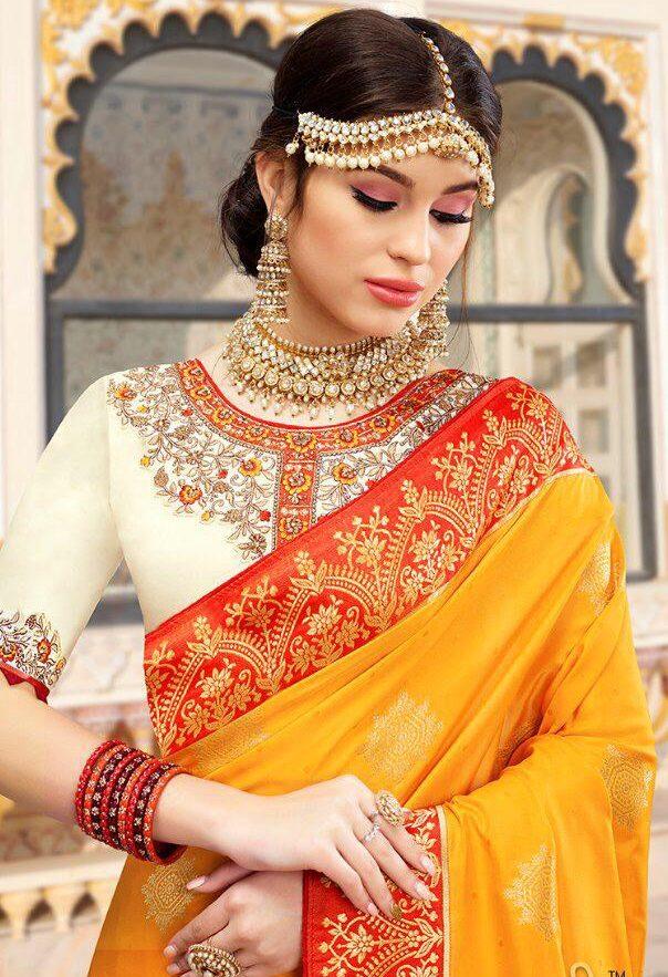 Latest Glamour of Beauty Kerala Set Saree Blouse Designs