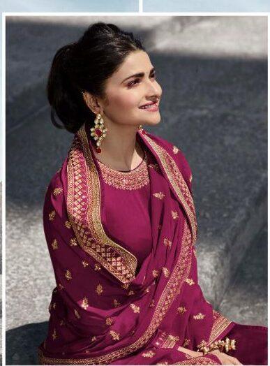 purple colour punjabi salwar suit for marriage