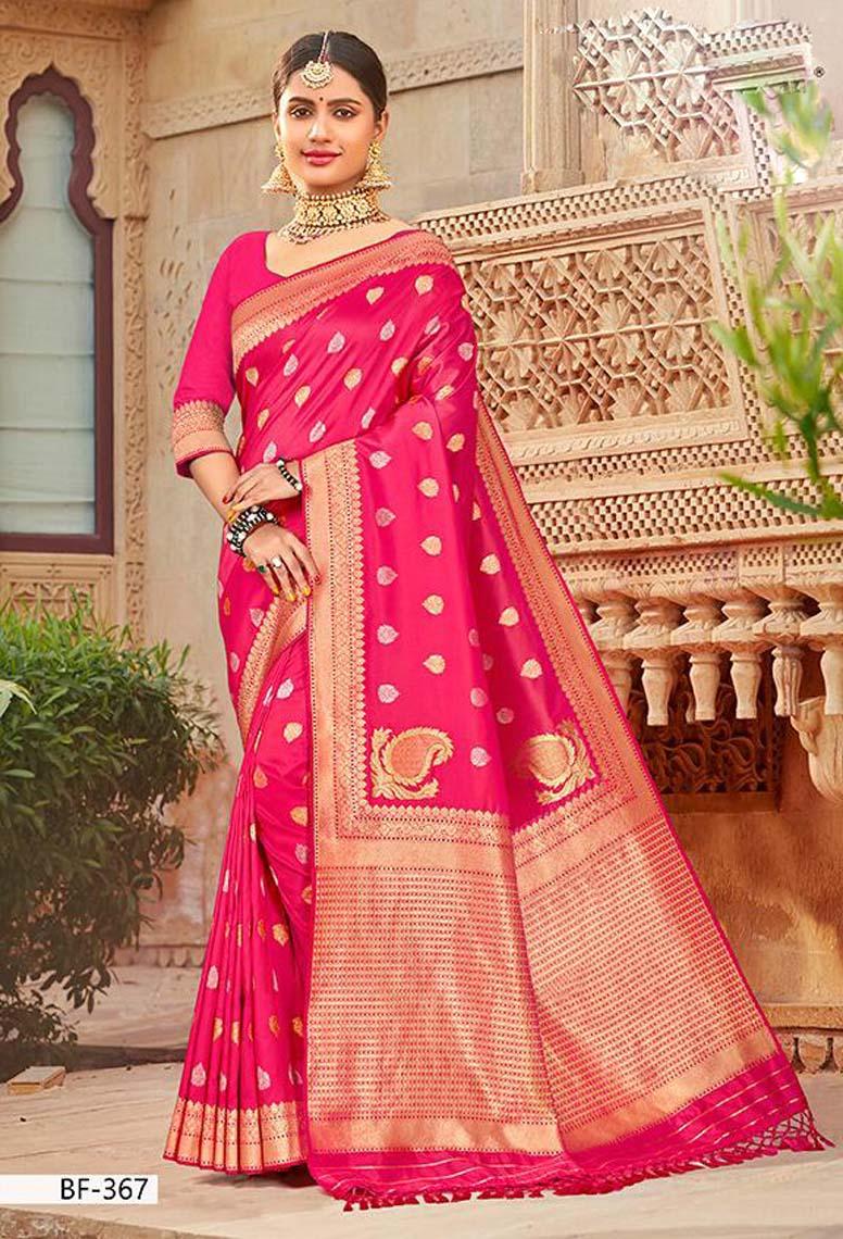 Designer Silk Sarees for Wedding Reception with Price