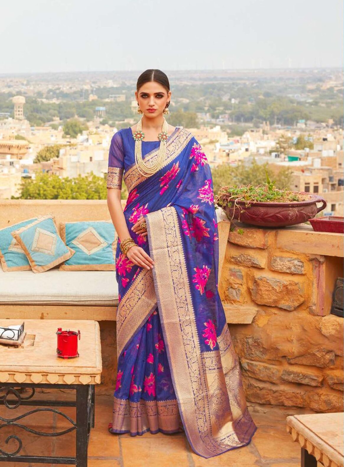 Royal Blue Paithani Saree Pune