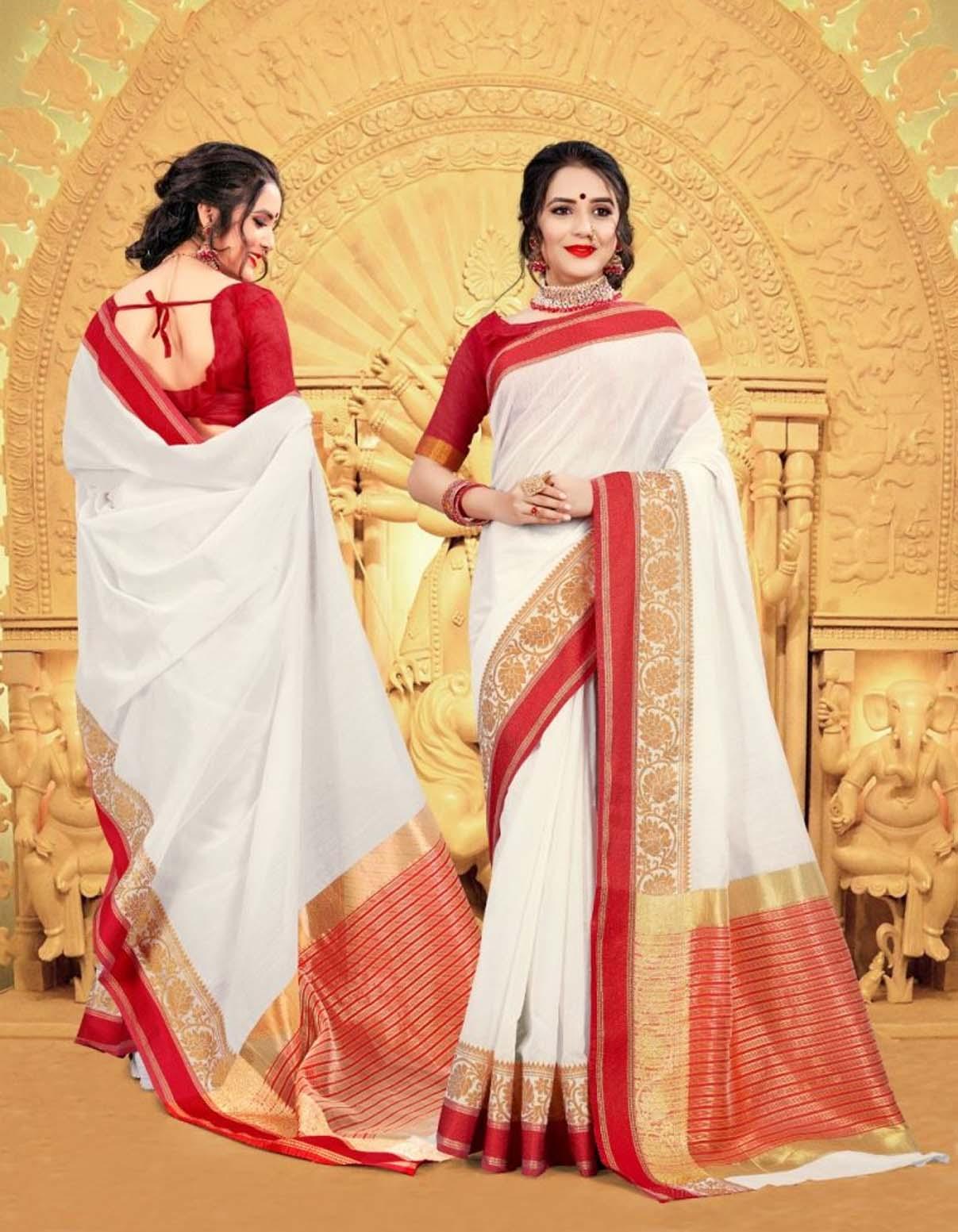 Saree to Wear in Durga Puja
