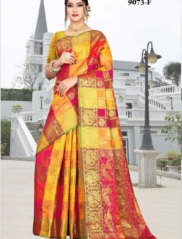 heavy pallu art silk saree
