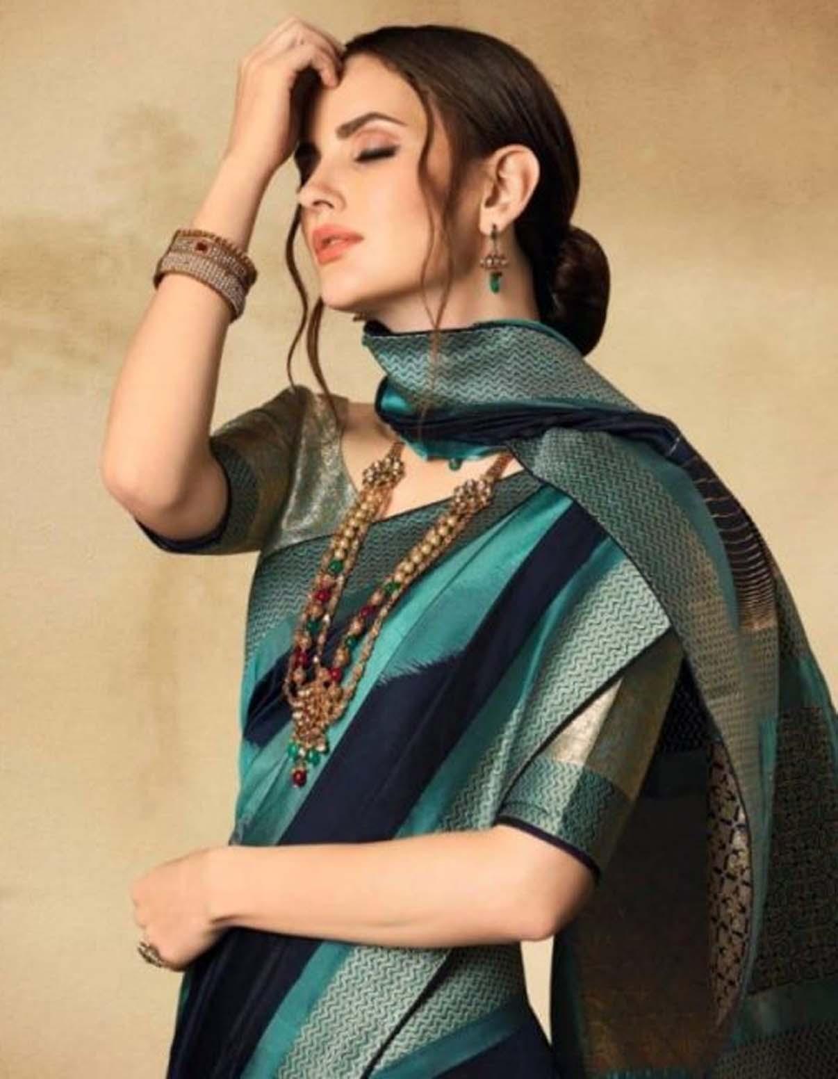 Silk Sarees Design Blouse