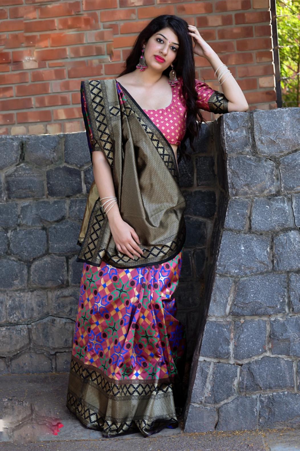 Designer Banarsi Silk Saree Online for Function Purpose