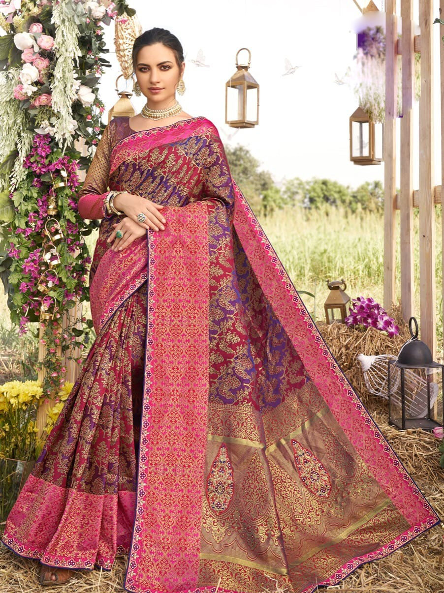 Designer Royal Wedding Silk Saree Below 5000