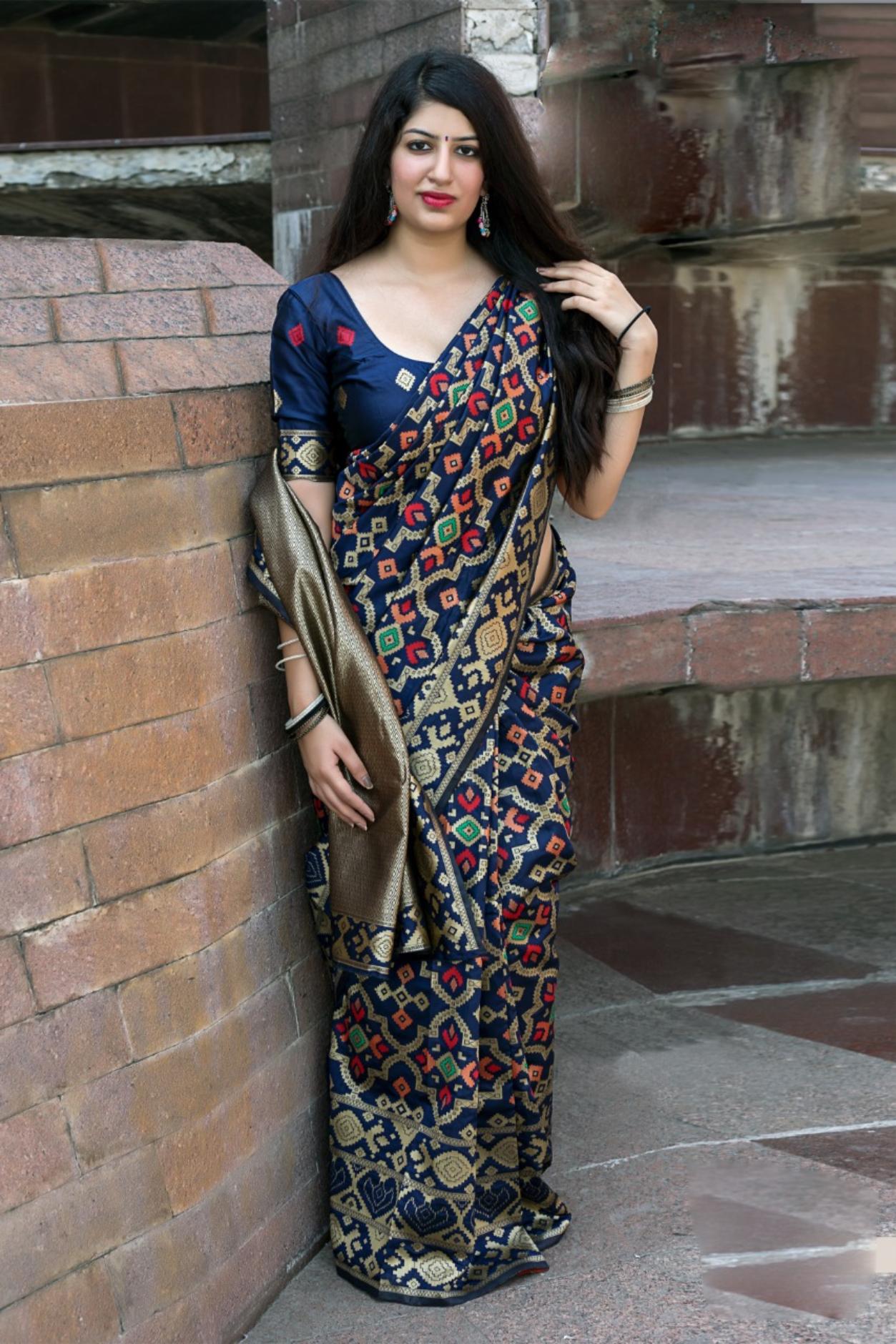 Latest Designer Party Wear Silk Saree