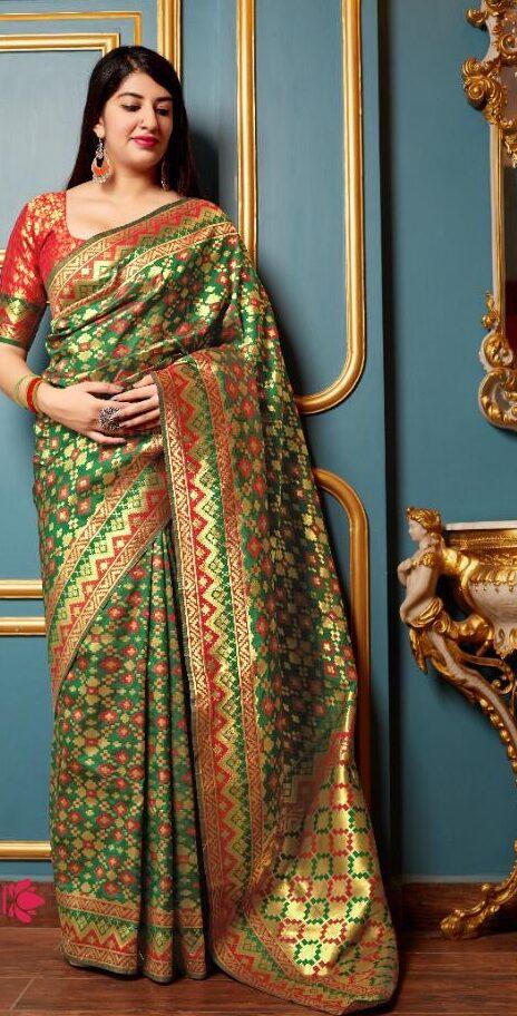 New Designer Banarsi Silk Saree With Online Price.