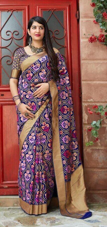 New Designer Banarsi Silk Saree With Price