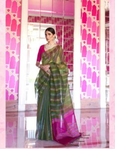 New Designer Green And Pink Color With Price.