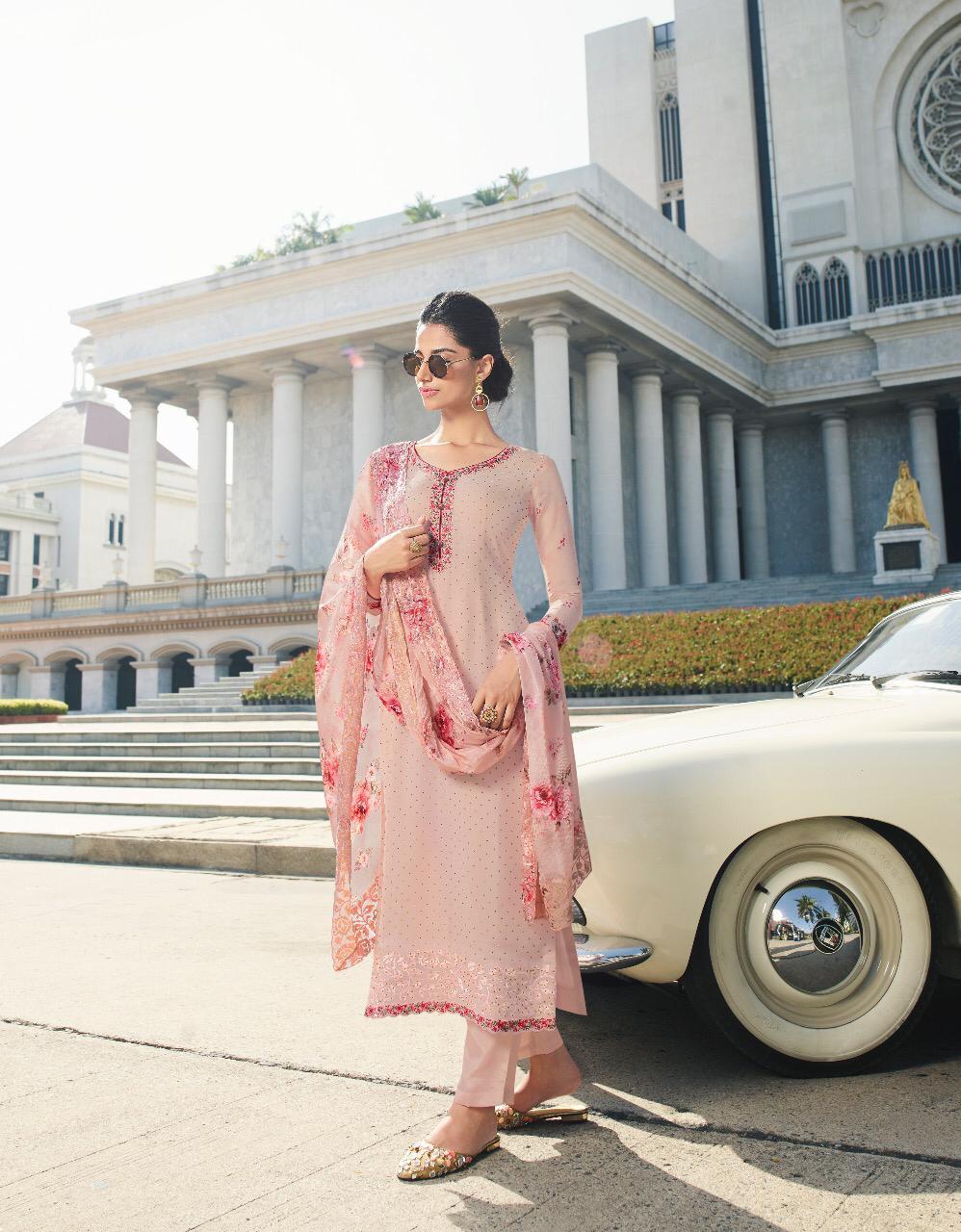 New Designer Light pink Color Punjabi Suit With Price