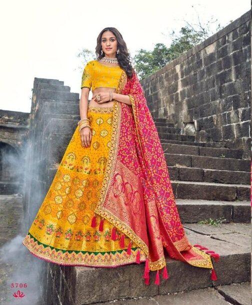 New Designer Yellow Color Lehenga New Fashion