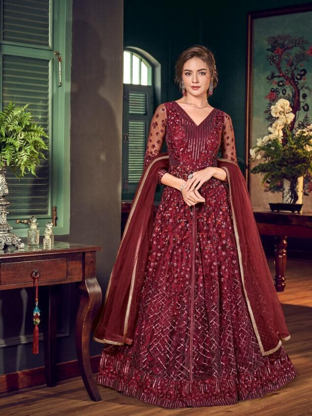 New Designer red Color gown With Price