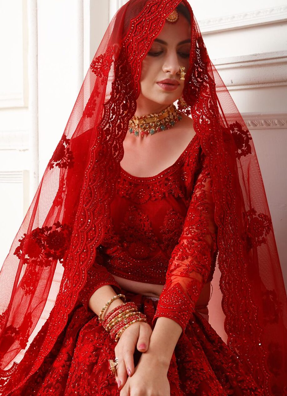 New Designer red color lehenga wedding with price