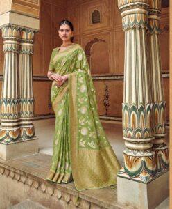 New designer Party-wear Silk saree with price