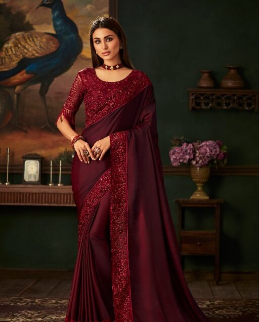 New Designer Red Color Saree latest Collection