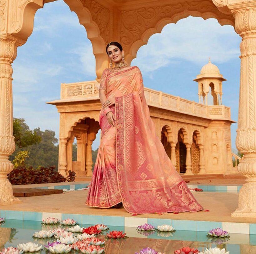 New Best Georgette Pink Color Designing Saree online