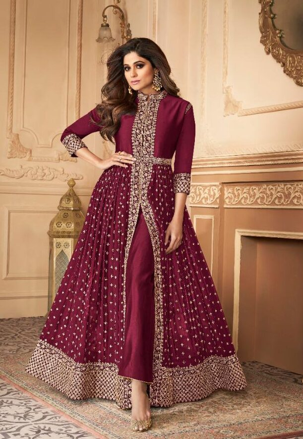 New designer pink color taditional dull santoon suit with price