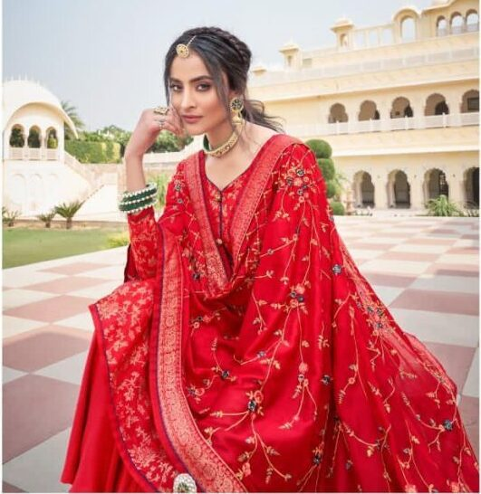 Latest Designer Bridal Suits with Heavy Dupatta