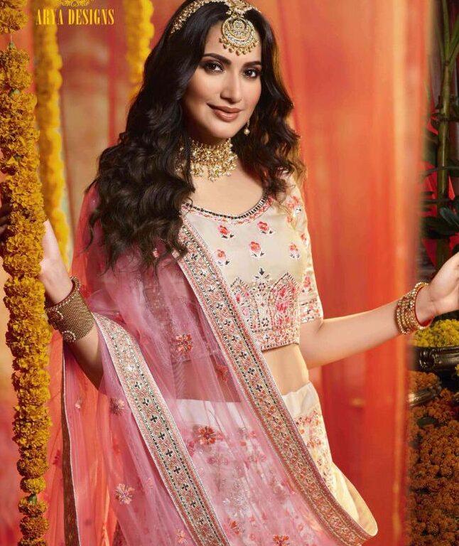 Latest Designer Light Colour Lehenga for Bride