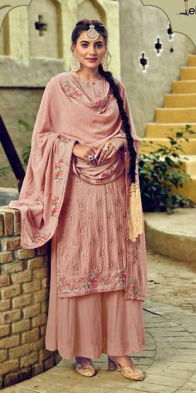 New Designer Light Pink Color Designer Salwar Kameez.