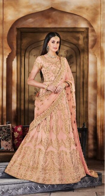New Latest Mode Maker Light Pink Color Lehenga For Wedding.