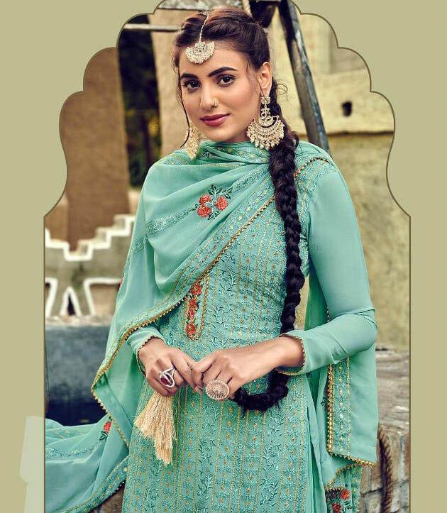 New Mode Light SkyBlue Color Designer Salwar Kameez.