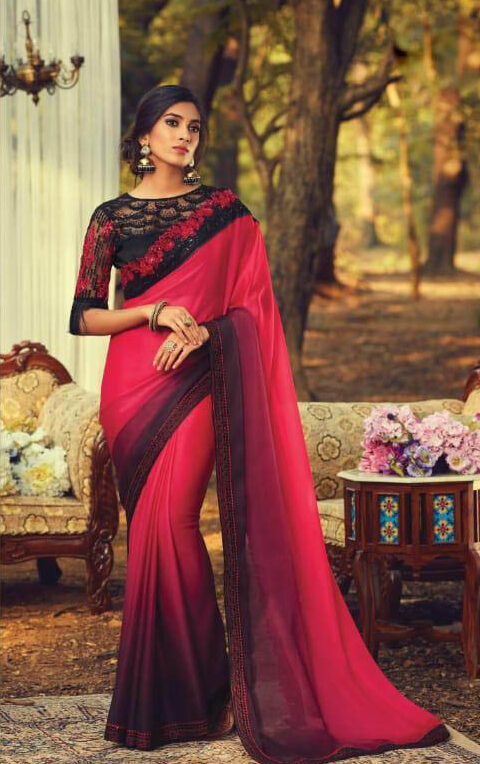 Best Bollywood Pink Color Blouse Design Catalogue.