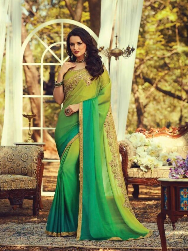 New Green Color Bollywood Designer Suit Pattern