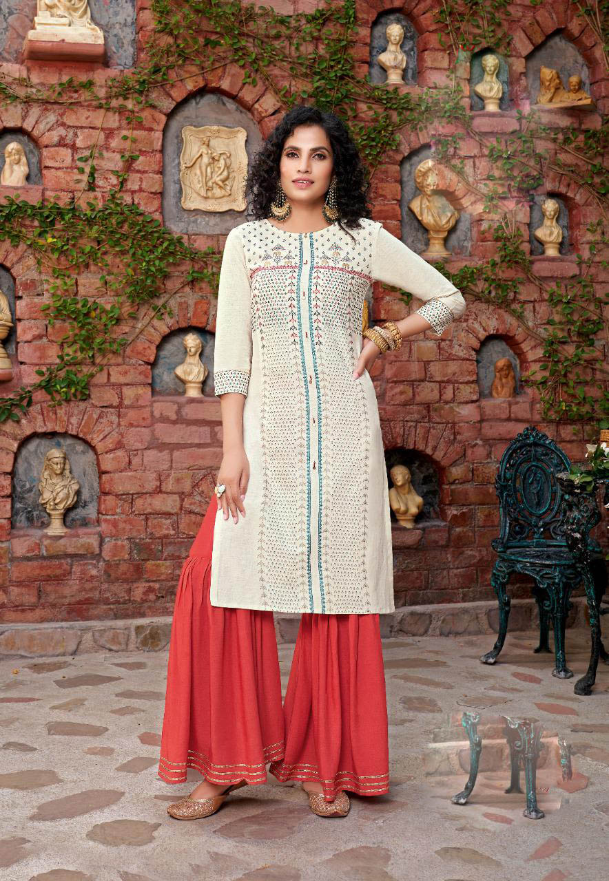 New Mode Trend Designer White Color Sahara Suit Online Cost.