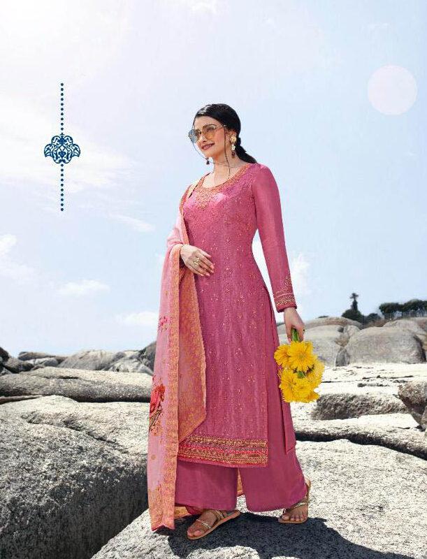 New Best Georgette Pink Color Designer Suit For Ladies Punjabi