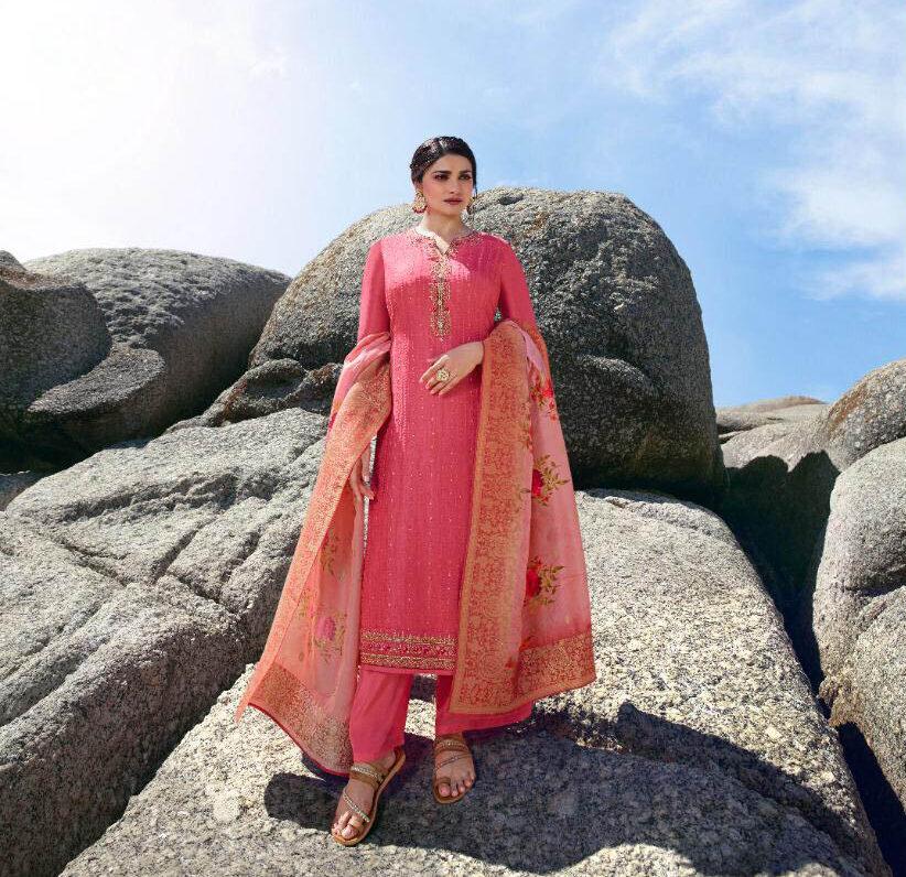 New Trend Designer Light Pink Color Punjabi suits party wear