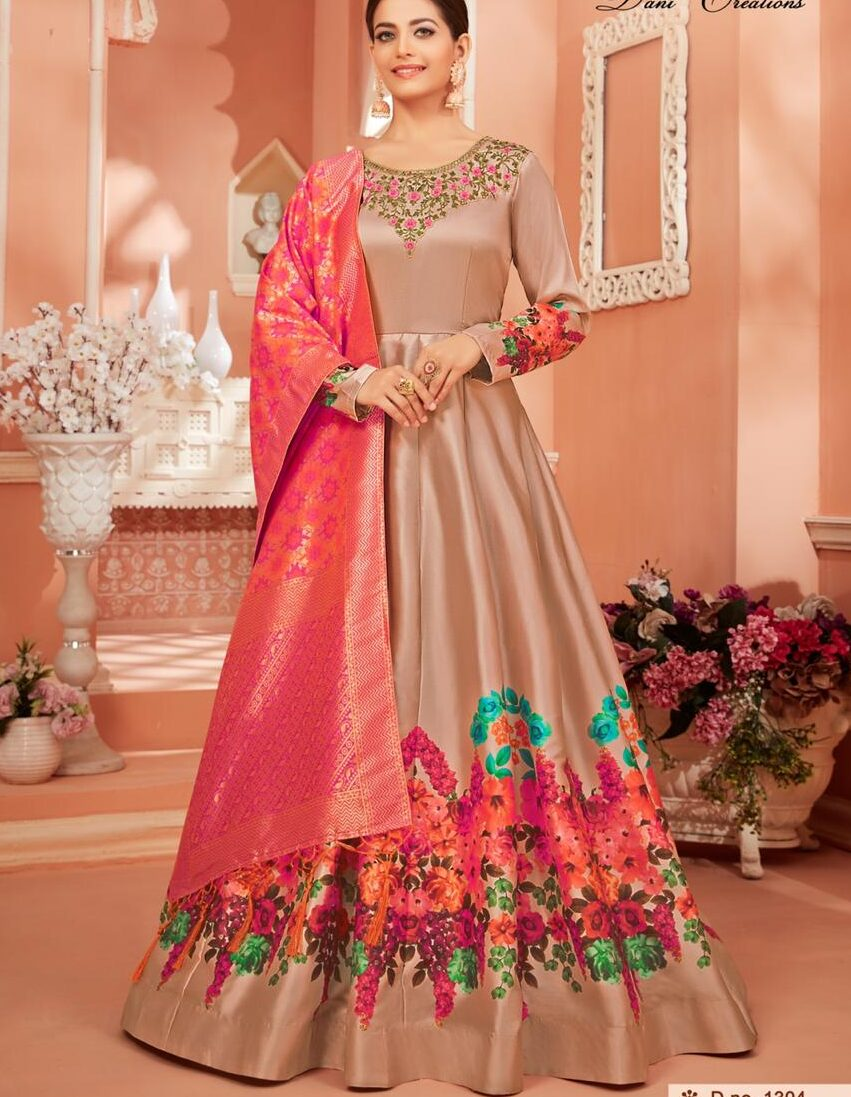 Baby Pink Gown with Price for Engagement Ceremony