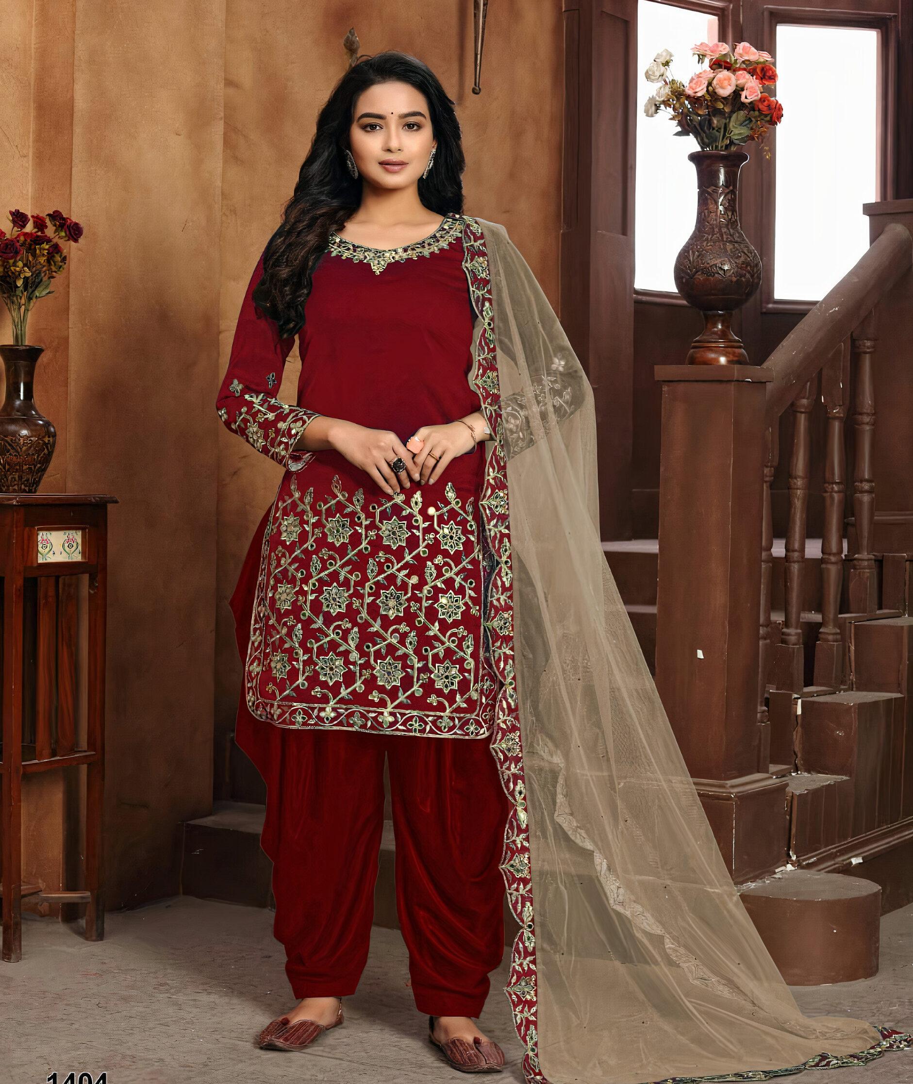 Heavy Stone Work Salwar Suits for Bridal Wear