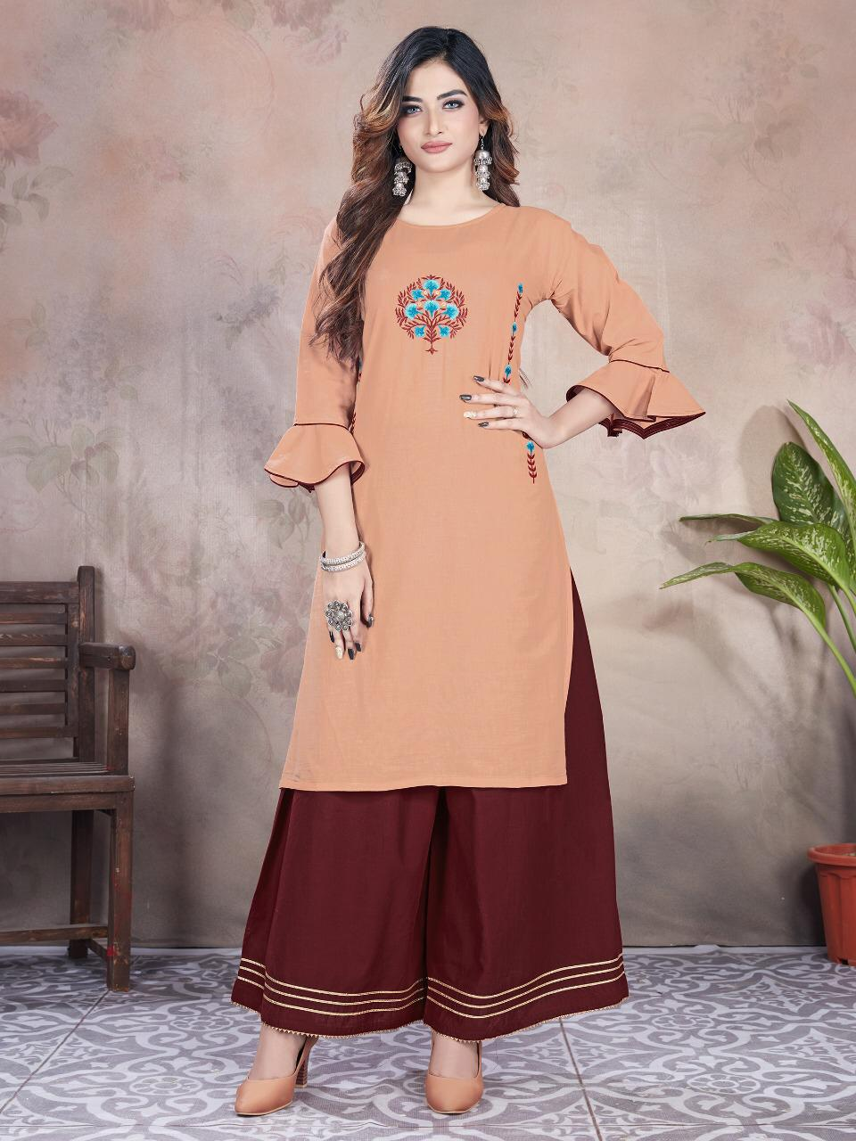 Latest Designer Embroidered Palazzo Suit Sets 2021