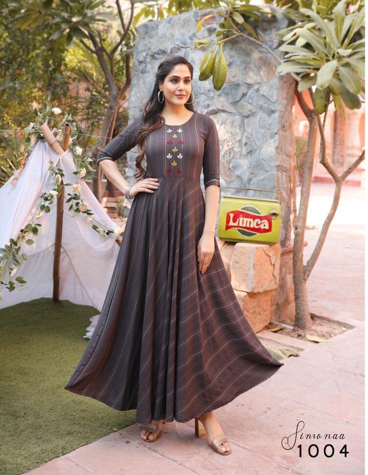Best Trend Designer Black Color Bollywood Anarkali Kurtis