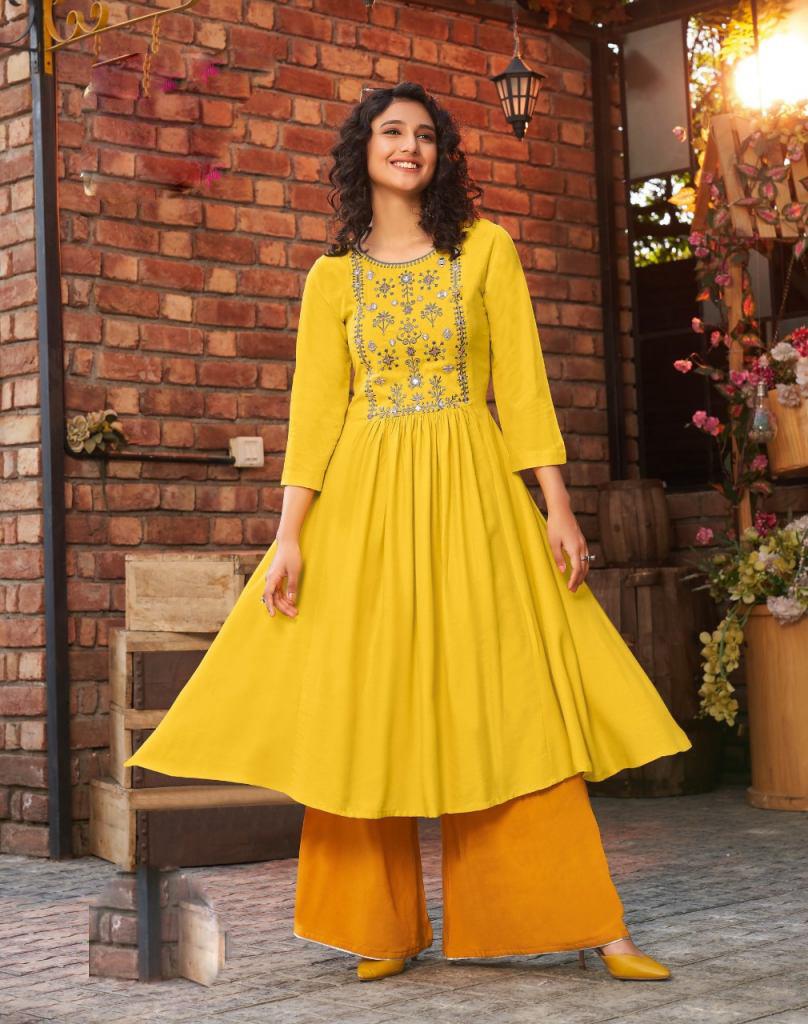 Kundali Bhagya Anarkali Designer Kurti Yellow