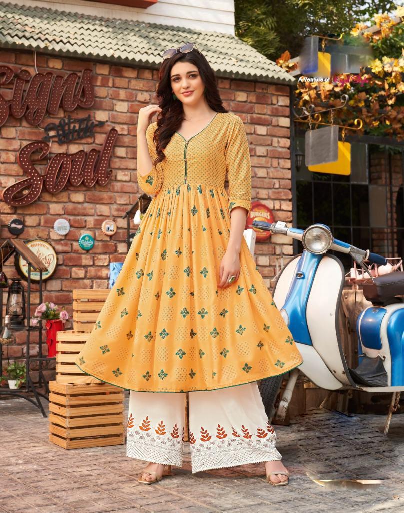 Kundali Bhagya Anarkali Style Cotton Kurti Design 2021