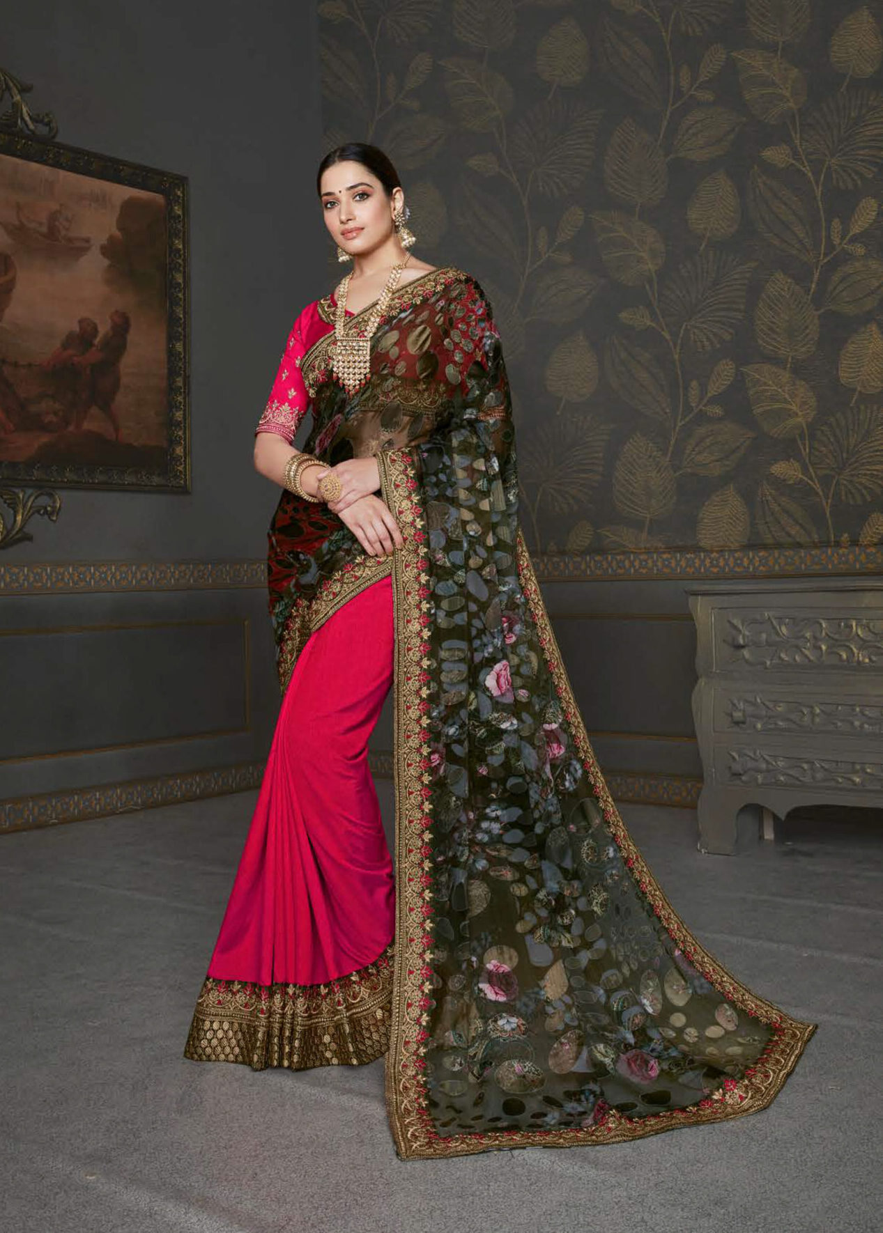 Best Latest Party Wear Saree Design With The Price.