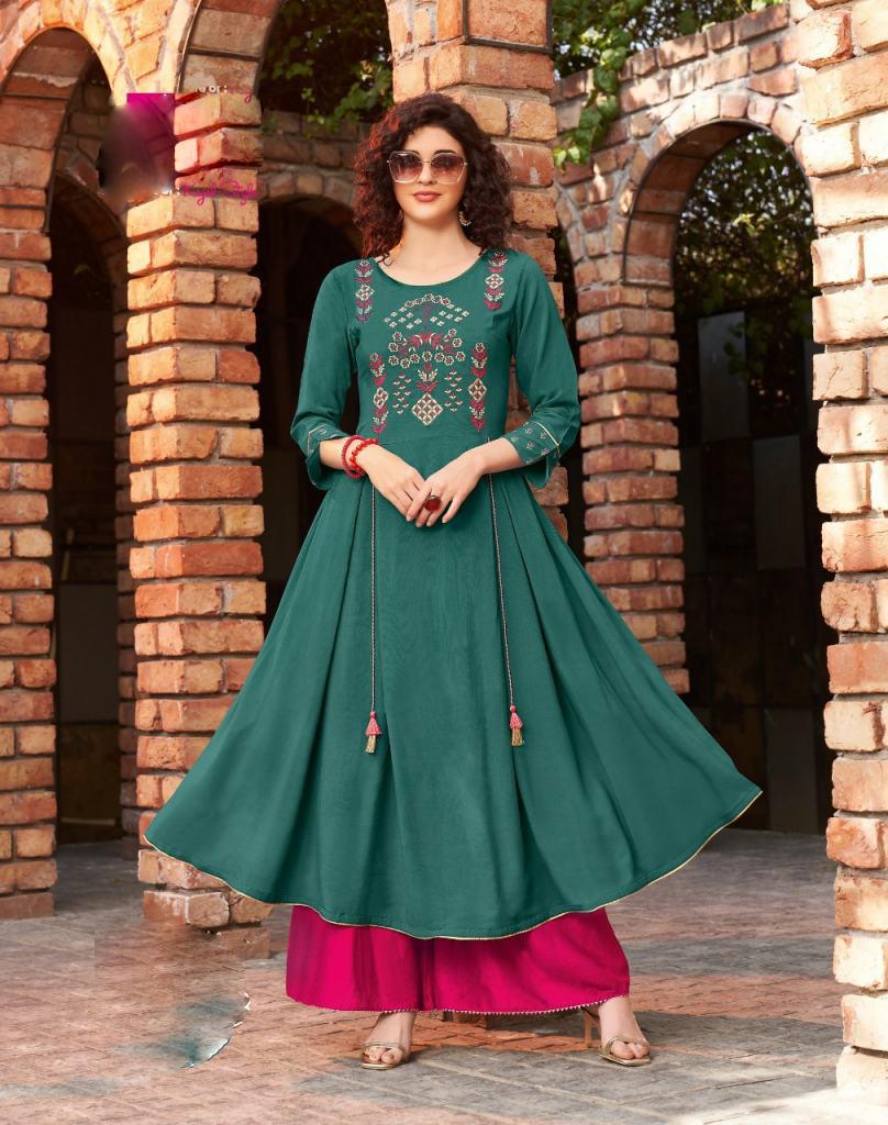 Navy Blue Kundali Bhagya Anarkali Best Cotton Kurtis Online