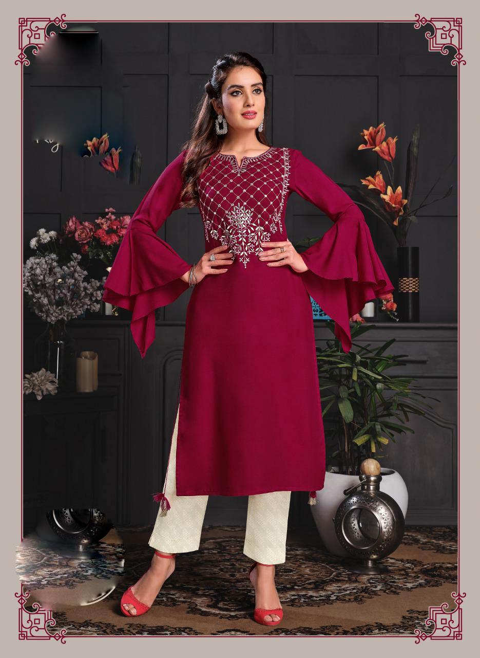 New Designer Pink Color Palazzo Suit Design 2021.