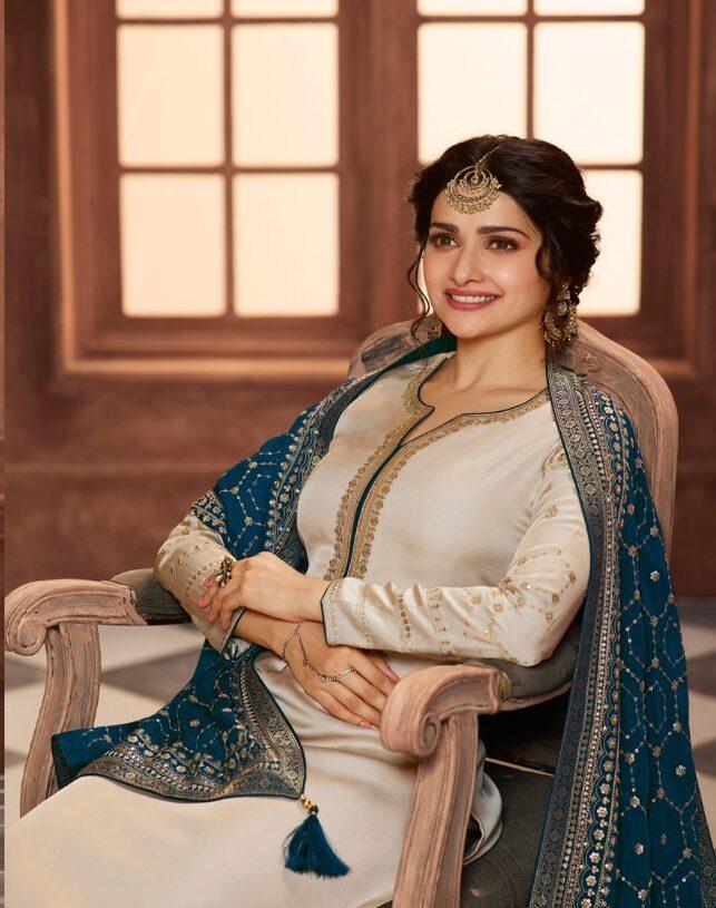 New Trend designer White Color Heavy patiala Salwar Suit