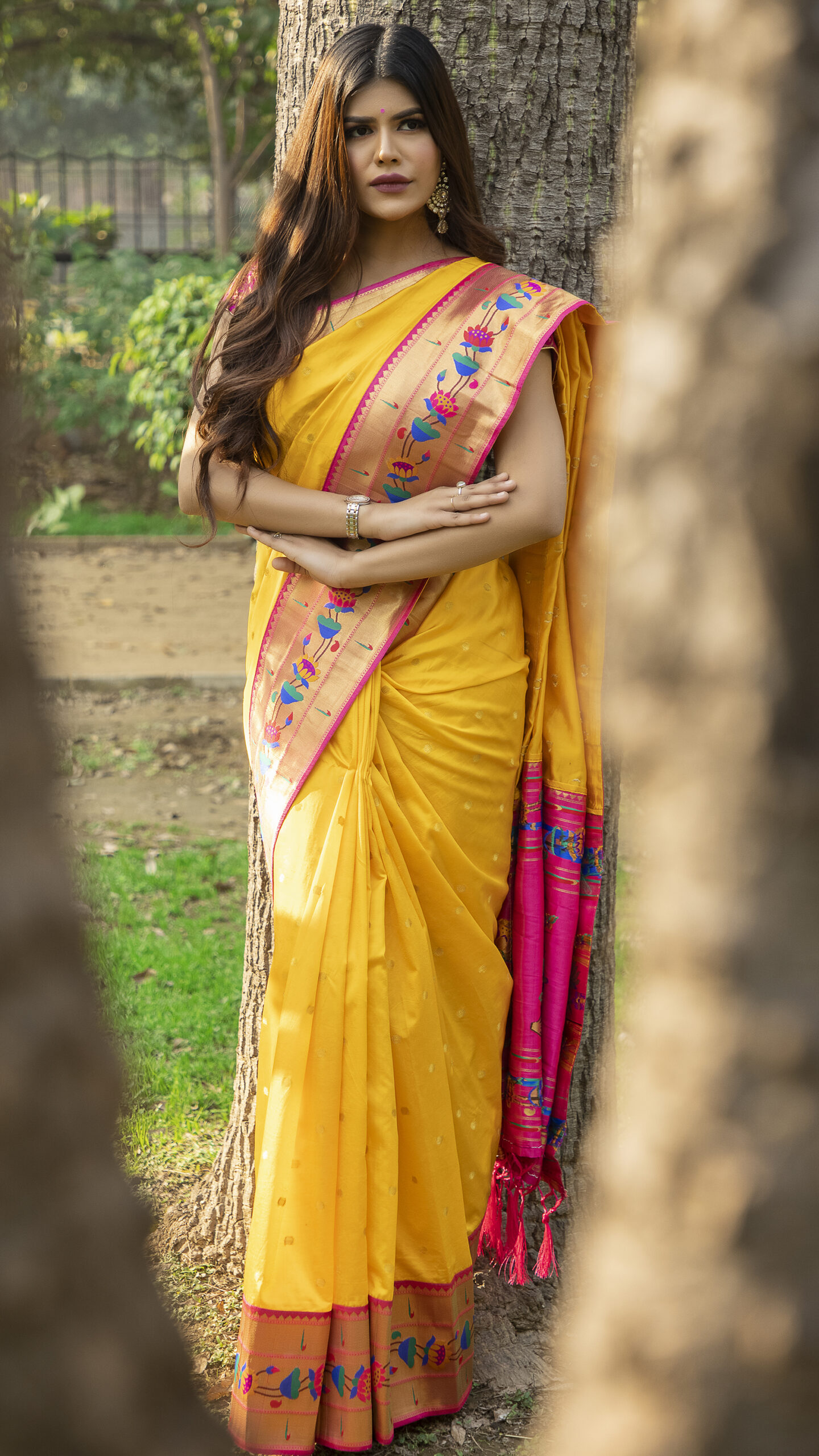 Yellow Colour Soft Silk Sarees Online SHAHIFITS