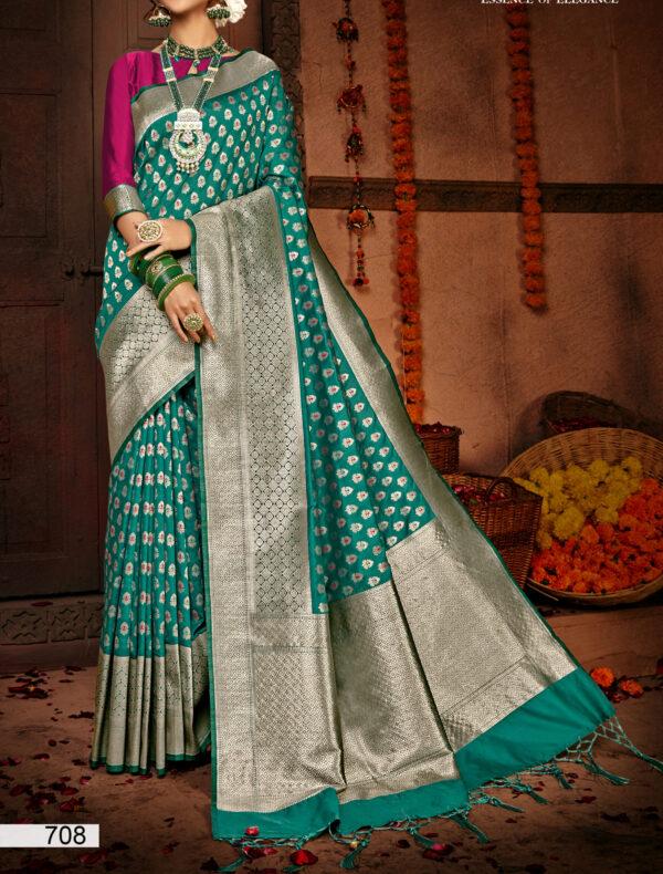 New Design of Silk Saree in Green