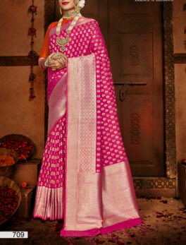 New Design Silk Saree in Pink Colour