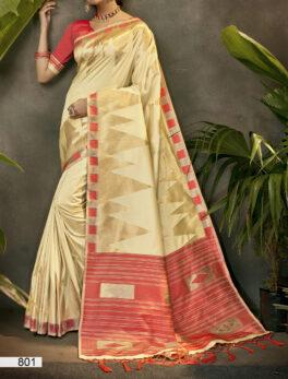 Off White Silk Saree Online Digital Print