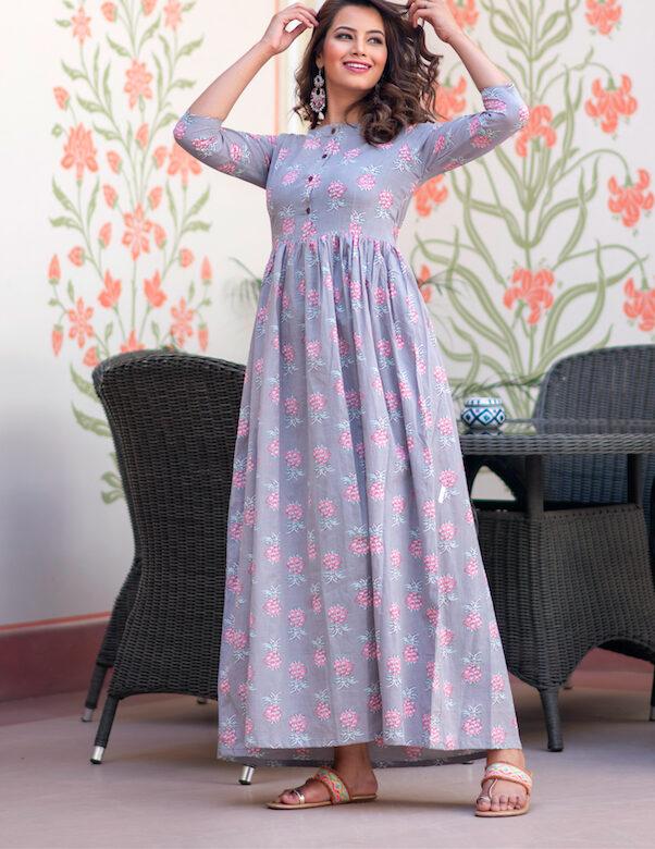 Muslin Cotton New Design Fancy Kurti for Girls