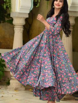 New Designer Kurti Palazzo Set Floral Print