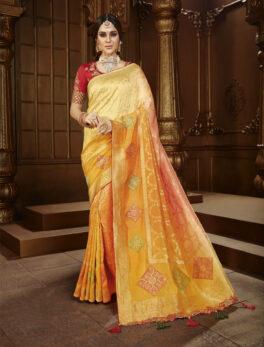 Yellow Colour Wedding Saree for Bride
